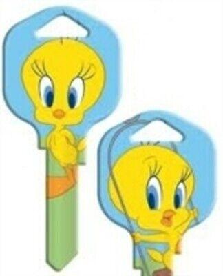 TWEETY BIRD BLUE SWING House Key Blank KWIKSET KW1//KW10//KW11 LOONEY TUNES