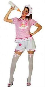 Deguisement-Adulte-Femme-BEBE-Rose-XL-44-Costume-Drole-Enterrement-Vie-NEUF