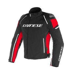 best cheap 7d0c4 3dcdd Dettagli su Giacca moto Dainese Racing 3 Dry black red nero rosso taglia 54  jacket