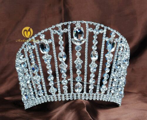 "Beauty Pageant 5.5/"" Women Tiara Crown Rhinestone Hair Jewelry Party Costumes New"