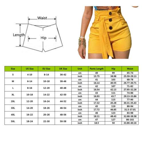 2019 Damen Bermuda Shorts Freizeit Kurze Hose Hohe Taille  Übergröße P//D
