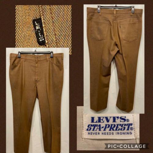 Vtg LEVIS BIG E Mens Slacks Pants Brown STA-PREST