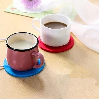 5V USB Silicone Heat Warmer Heater Tea Coffee Mug Hot Drinks Beverage Cup GOOD