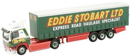 Oxford 1 76 Leyland DAF FT85CF Curtainside Eddie Eddie Eddie Stobart DAF003 e36502