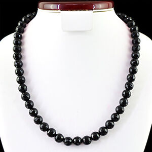 FINEST-330-00-CTS-NATURAL-RICH-BLACK-SPINEL-ROUND-FACETED-BEADS-NECKLACE-STRAND