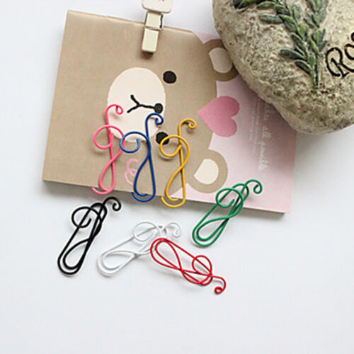 10Stk Multi-farbe Cartoon Musik Note Büroklammer Briefklammer Heftklammer