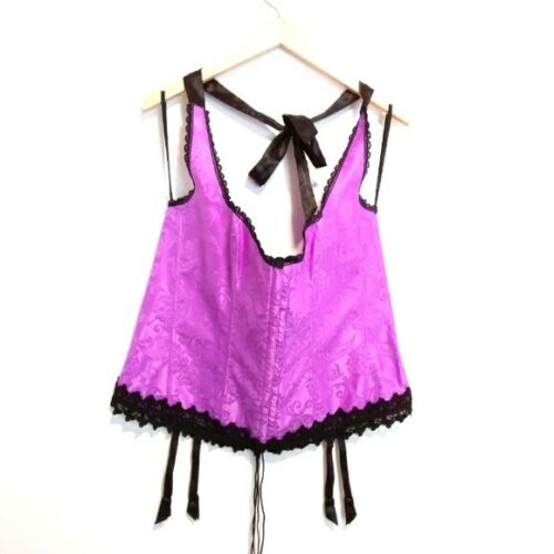VINTAGE FREDERICK'S OF HOLLYWOOD LACE UP CORSET 44 - image 1
