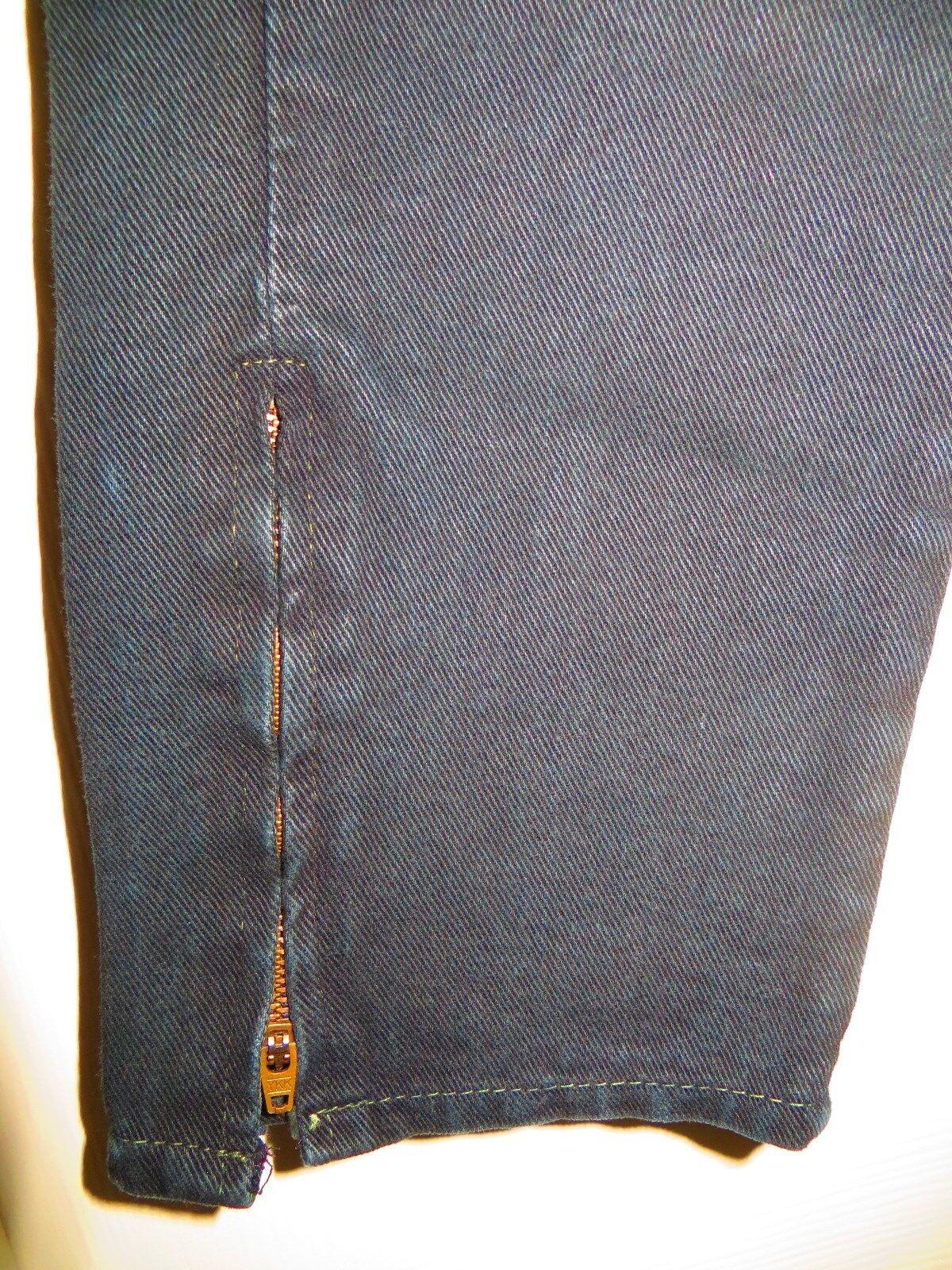 womans skinny jeans CHEMIN DE FER black Vintage 1… - image 5