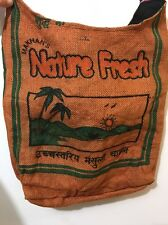 Earth Divas Fair Trade Made Recycled Jute Nepal Rice Sack Shoulder Bag