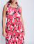 LANE-BRYANT-Printed-Pleated-Skirt-Dress-14-16-18-20-22-24-26-28-Pink-1x-2x-3x-4x thumbnail 1