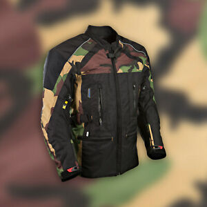 New-Camouflage-Trail-Black-Motorcycle-Textile-Mens-Jacket-Waterproof-CE-Armoured