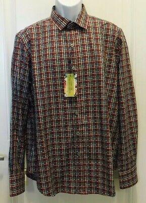 $198 NWT Robert Graham Burntside Classic Fit LS Woven Shirt Multicolor Sz-Large