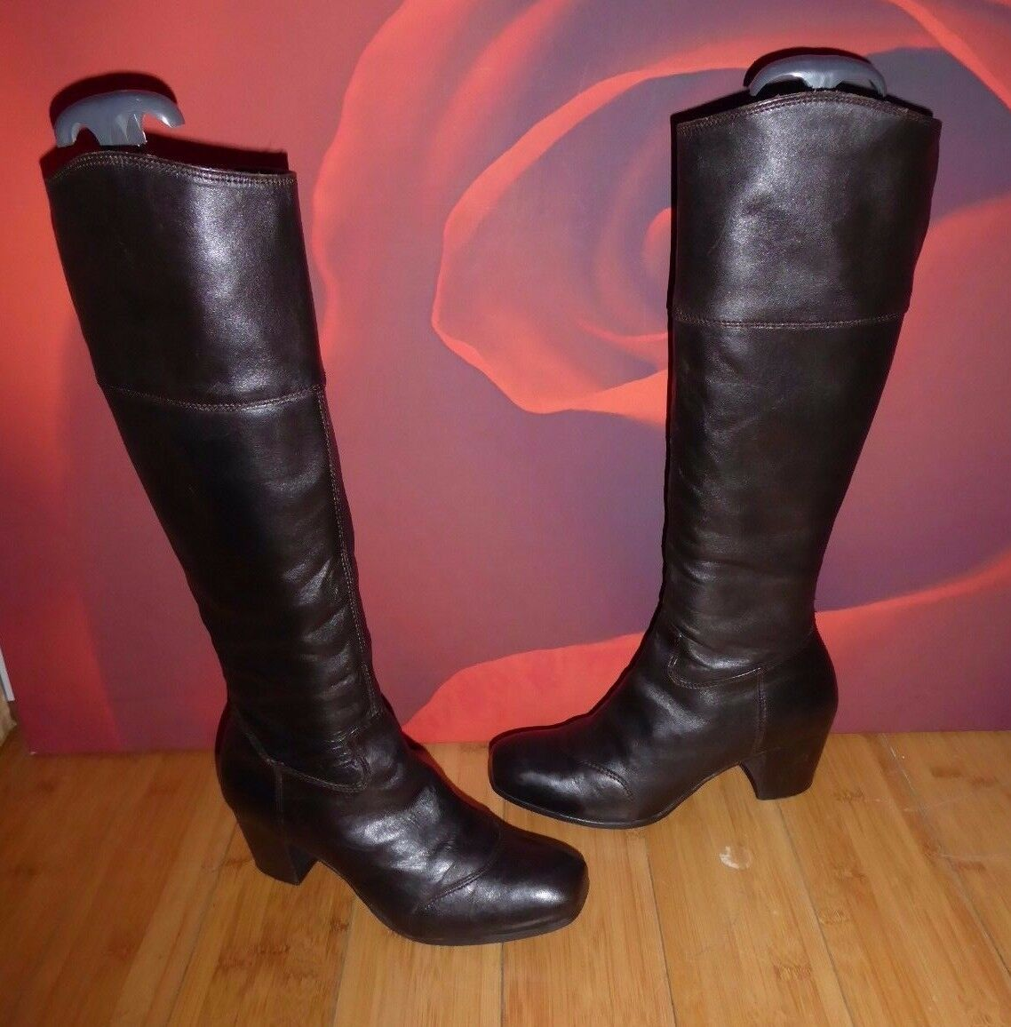 *20*  SUPERB DMN BROWN LEATHER RIDING STYLE BOOTS EU 37