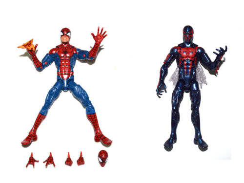 Marvel Legends Infinite Series Pizza Spiderman & Spiderman 2099 Action Figure