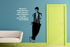 Ferris Bueller Art Citation Autocollant Incroyable Décalque Mural Vinyle Décor
