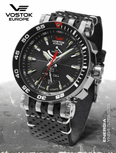 New! Vostok Europe Energy Rocket Auatic Power Reserve Yn84575a538