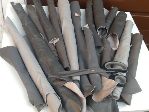 Leather  Offcuts  Mixed  greys Italian 1  kilo Buy 1 get 500 grams free !