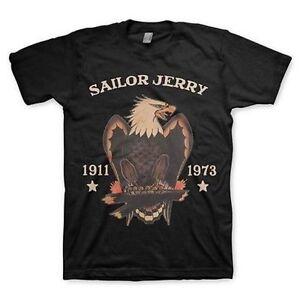 Sailor Jerry Epais Aigle Amerique Usa Ancre Rhum Tatouage T Shirt