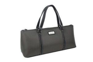Sachi-Wine-Bottle-Insulated-Cooler-Bag-Tote-Carrier-Purse-Handbag-Charcoal