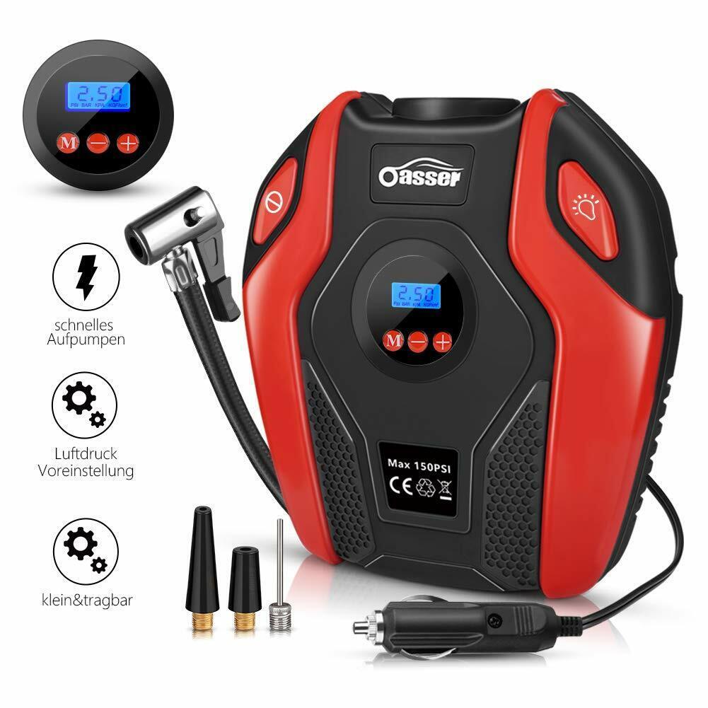 Oasser Auto-Luftpumpe Reifen Inflator Kompressor Digital Portable Mit Lcd Bildsc