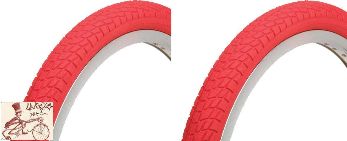 KENDA KONTACT 20  X  1.95  RED BMX BICYCLE TIRES--1 PAIR