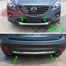 Front + Rear Bumper Lower Molding Chrome Trim For Mazda CX-5 2013 2014 2015 2016