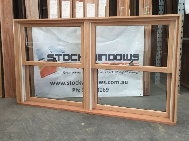 Timber Double Hung Window 1025h x 1840w Twin Sash DOUBLE GLAZED - IN STOCK NOW