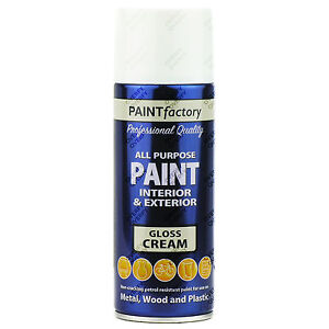 2 x 400ml multi usage cr me vernis aerosol spray peinture maison voiture ebay. Black Bedroom Furniture Sets. Home Design Ideas