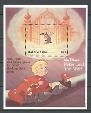 Walt Disney, Peter und der Wolf - Malediven - 1 Bl. ** MNH 1993