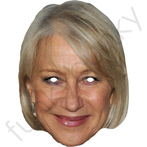 All Our Masks Are Pre-Cut! Helen Mirren Celebrity Card Mask