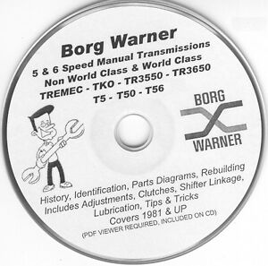 image is loading borg-warner-tremec-5-speed-t5-t50-t56-