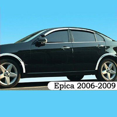 Tosca Chrome Window Visors Vent 4pc For 06-09 Chevy Epica