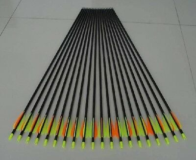 """Faithful 12 Sporting Goods 30"""" Gp Shooting/hunting Fiberglass Arrow With Thread Point For Compound Bow Terrific Value"""