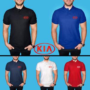 KIA-Polo-T-Shirt-COTTON-EMBROIDERED-Auto-Car-Logo-Tee-Mens-Clothing-Gift-Casual