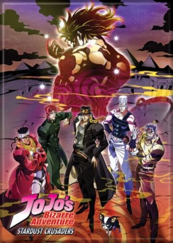 JoJo/'s Bizarre Adventure Anime Stardust Crusaders Poster Refrigerator Magnet NEW