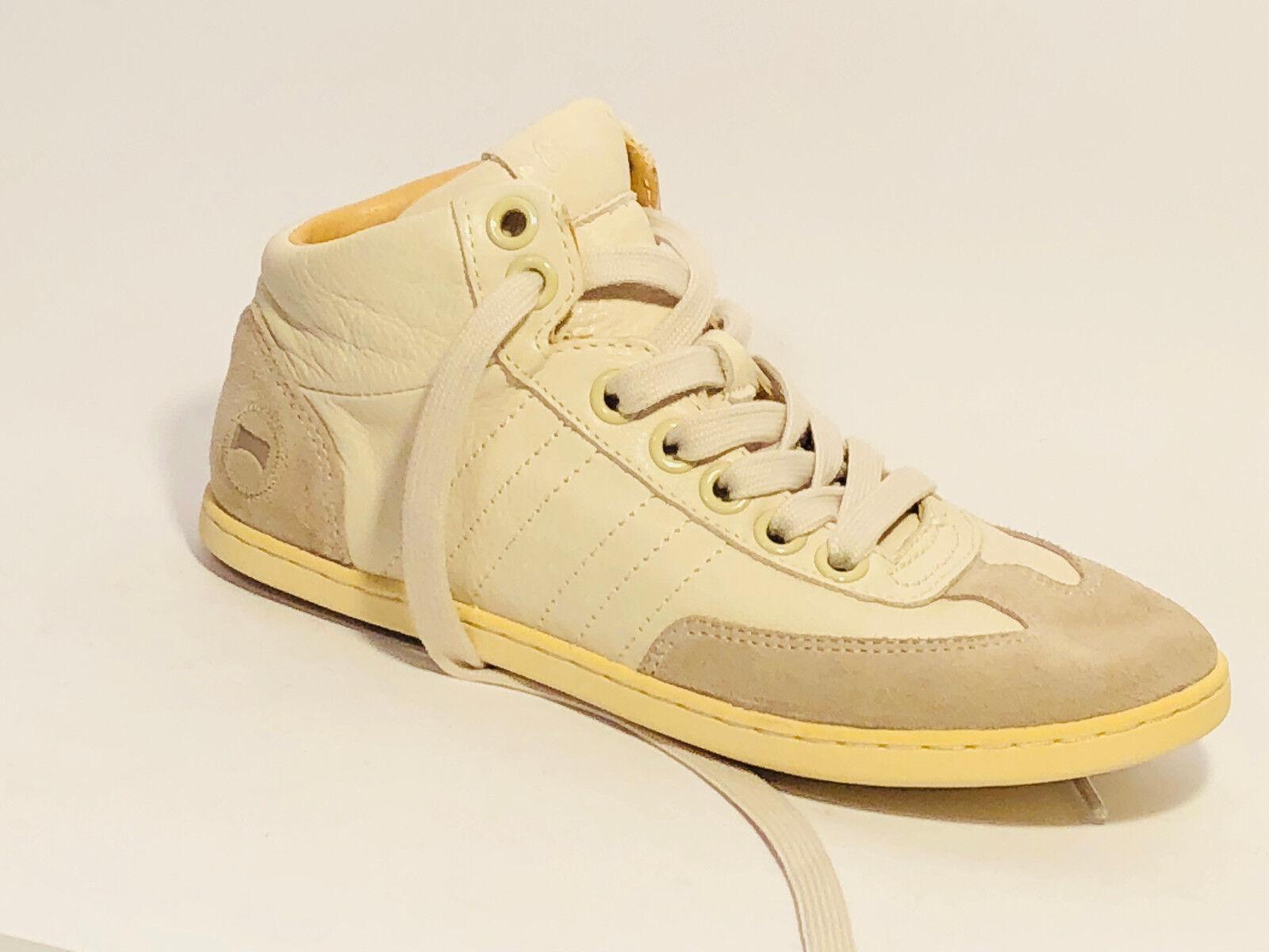 Camper Schuhe Stiefel Leder Sneaker Stiefel Schuhe Größe 36 (UK 3,5 ) Beige 43c6bc