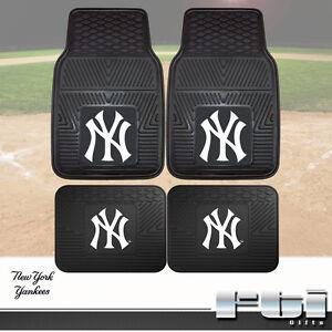 New York Yankees MLB Heavy Duty Vinyl 2-Pc   4-Pc Floor Car Truck ... 7698912c634