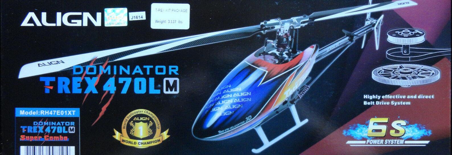 Align Trex 470Lm Dominator 470 Tamaño Eléctrico Helicóptero