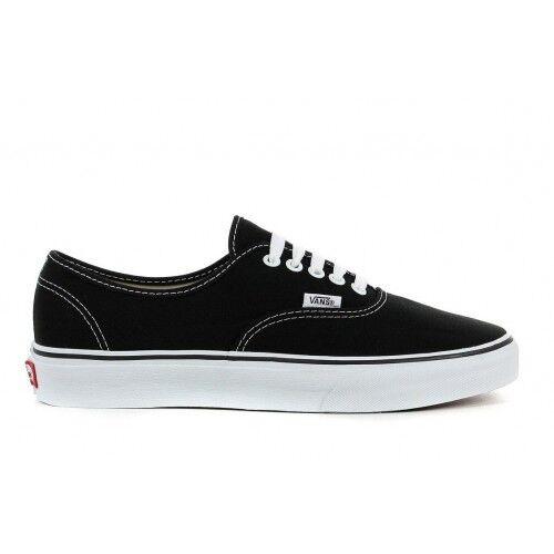 Vans Authentic Classiche Tela negro Suola blanco VEE3BLK zapatos ORIGINALI ® ITALI
