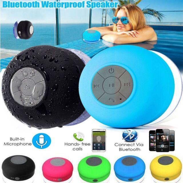 Waterproof Speaker Wireless Bluetooth Handsfree Mic Suction Car/ BATHROOM Shower