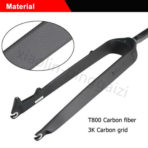 "1-1//8/"" Carbon Fiber Disc Brake Rigid MTB Mountain Bike Fork Expander/&Top cap 26"