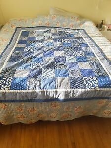AUNTY-CAROLE-CRIB-QUILT-WORLD-FAMOUS-52-034-X-69-034-COTTON-FABRIC-WALL-HANGING