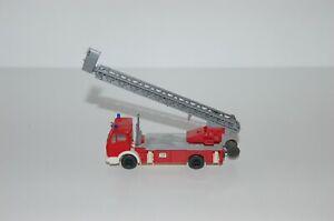 Wiking-Fire-Brigade-1-87-H0-Mercedes-Benz-Aerial-Ladder-Top-Condition-1