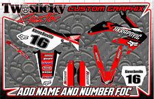 HONDA CRF 125/150/250/450  MOTOCROSS MX GRAPHICS STICKERS   ALL YEARS