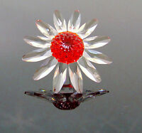 Swarovski SCS Annual CRYSTAL DAISY FLOWER Red Marguerite Figurine / Cake Topper!