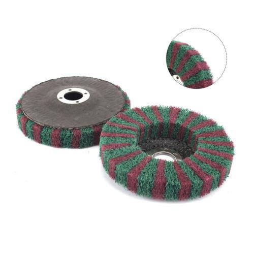 """5Pcs 4/"""" Nylon Fiber Flap Wheel Polishing Pad Abrasive Disc For Metal Polishing"""