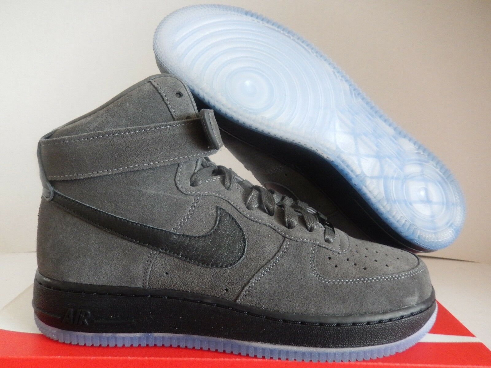NIKE AIR FORCE 1 HIGH ID GREY-BLACK-CLEAR Price reduction The latest discount shoes for men and women