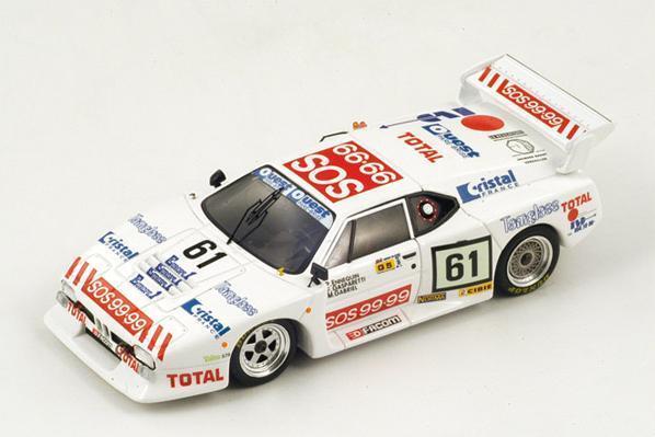 BMW M1  61 Ennequin-Gabriel-Gasparetti  Le Mans  1982 (Spark 1 43   S1585)