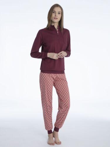 Bündchen Pyjama Damen Mit