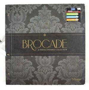 Brocade-Wallpaper-Sample-Book-Scrapbooking-Paper-Crafts-Card-Making-Mirage